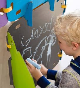 16-Piece Chalkboard Fantasy Fort Kit
