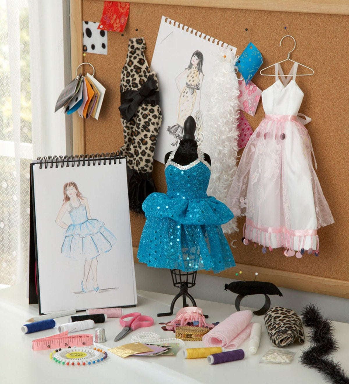 All Inclusive 50 Piece Fashion Design Studio Kit With Mannequin Hearthsong