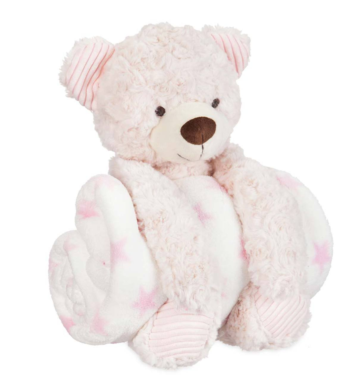 Pink Cuddly Bear & Blanket Set - Pink - 01