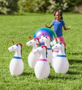 Giant Inflatable Unicorn Bowling