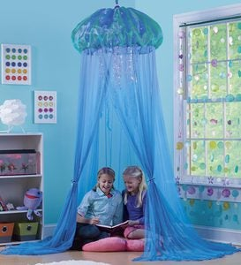 Aquaglow Light-Up Jellyfish Hideaway Canopy, 7'H x 12' Circumference