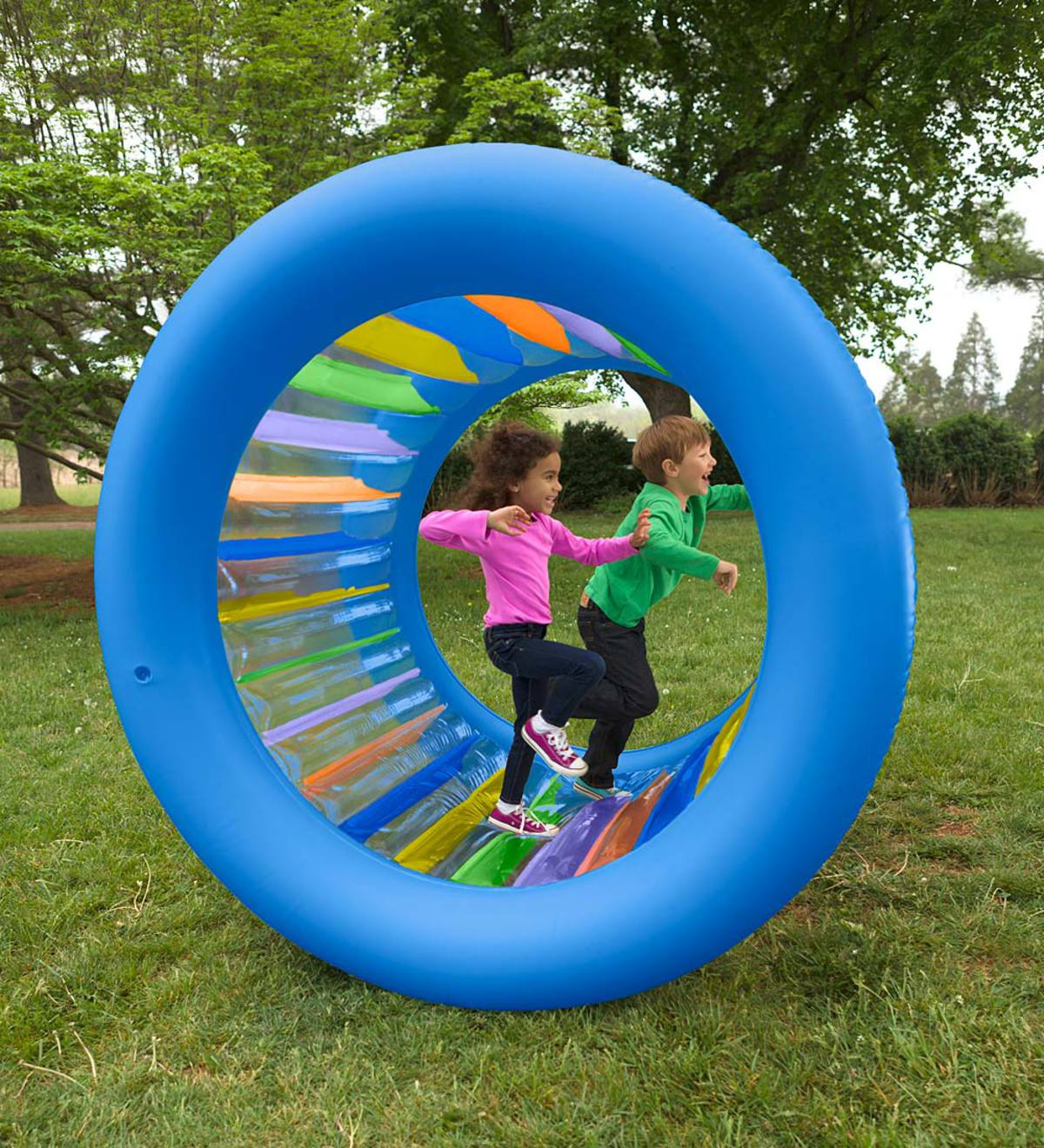 Roll With It!™ Giant Inflatable Colorful Wheel