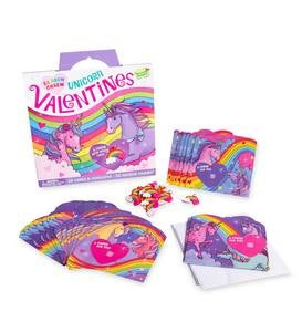 Funny Valentine 28-Card Super Packs by Peaceable Kingdom - Rainbow Charm Unicorn