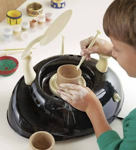 Pottery Wheel Special, Includes Six Extra Paint Pots and Four Extra Lbs. Air-Dry Clay