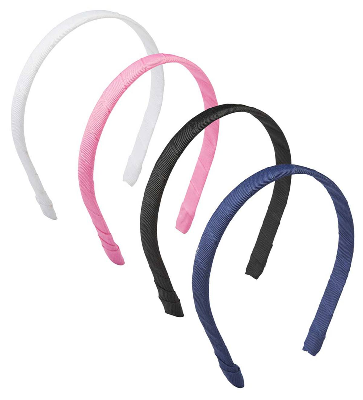 Grosgrain-Wrapped Headband - Pink - 1