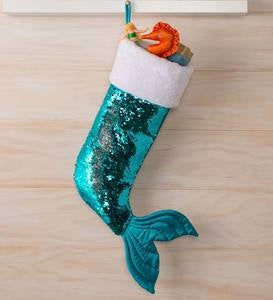 Sparkly Sequin Mermaid Stocking