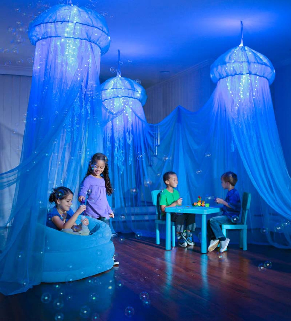 Aquaglow Jellyfish Hideaway Bed Canopy 12 Ages