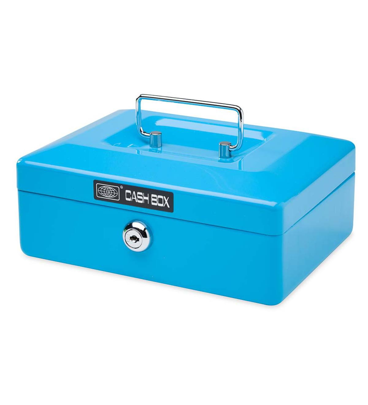 Metal Cash Box - Blue