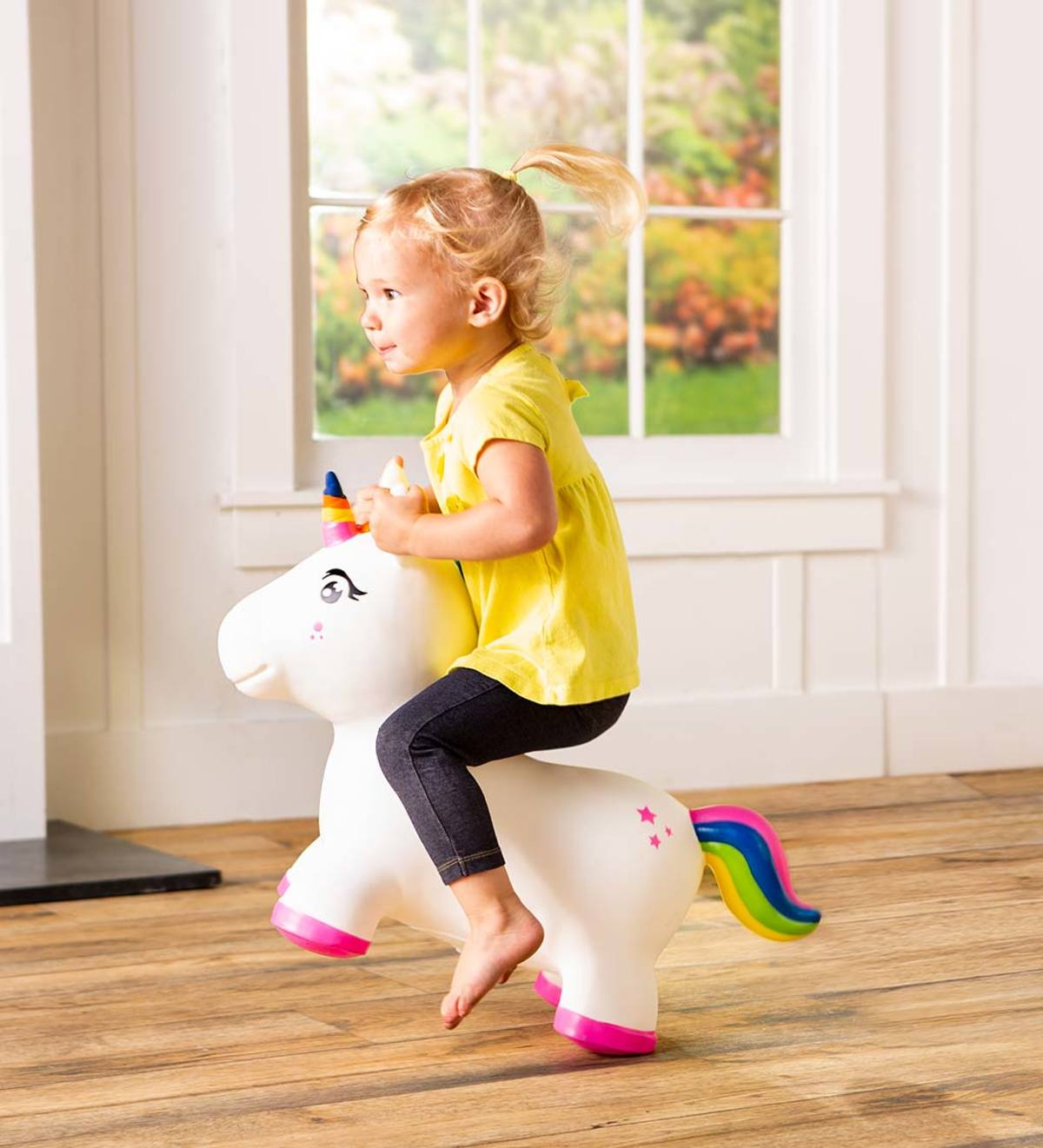 Bouncy Inflatable Animal Jump-Along for Toddlers