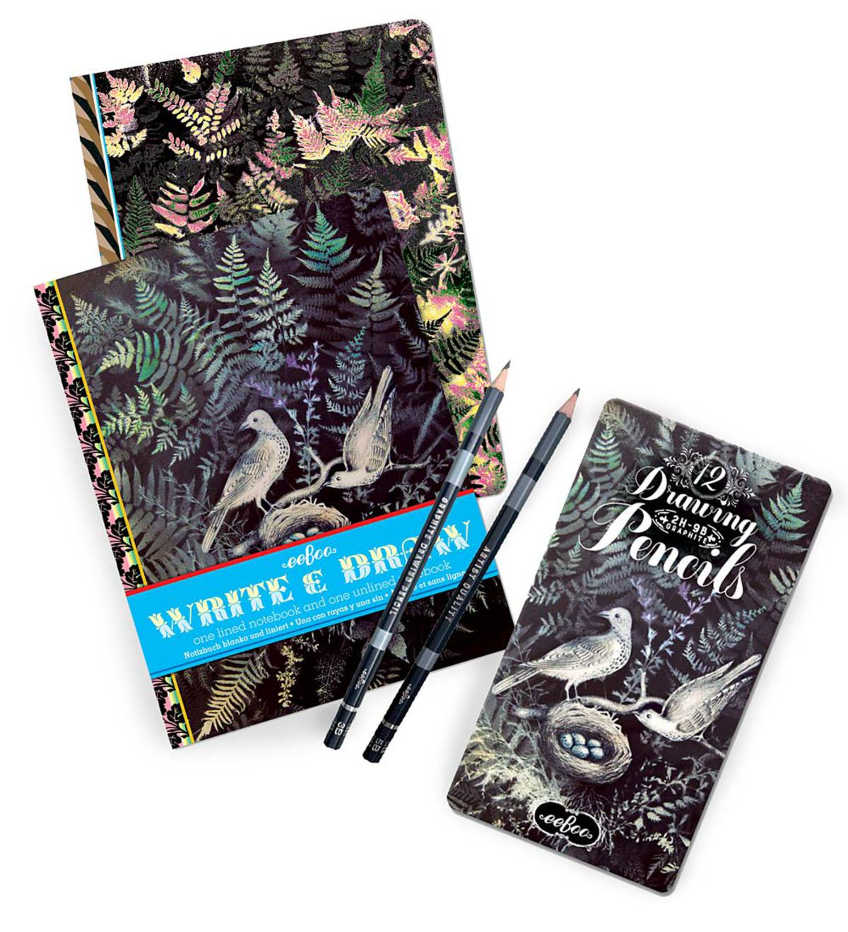 Dove in Ferns Write and Draw Notebook Set
