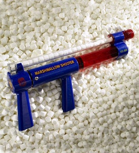 Air-Powered Miniature Marshmallow Shooter