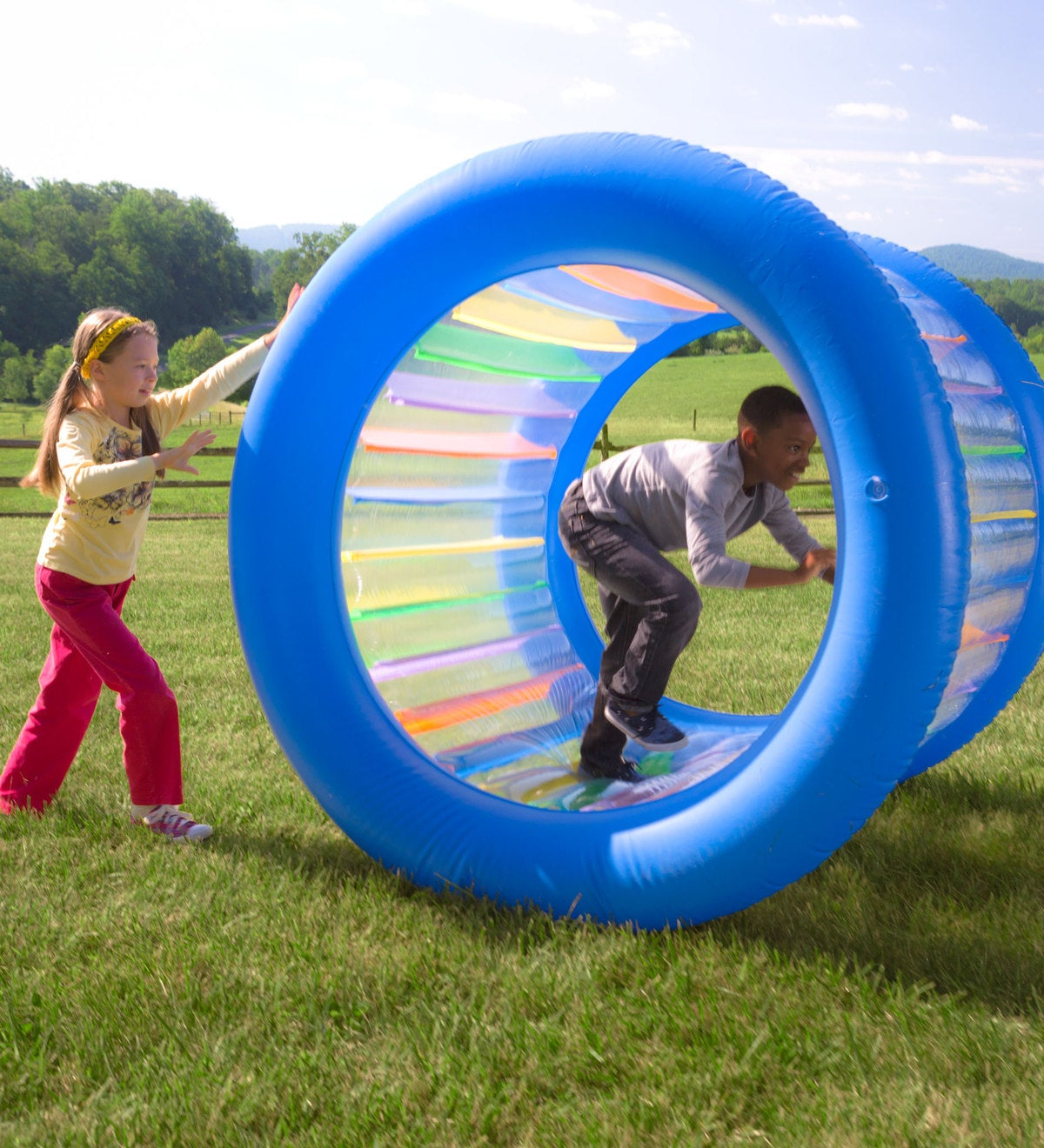 Roll With It Giant Inflatable Colorful Wheel 12