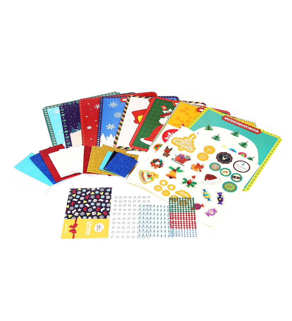 Christmas Card Kit with Mosaic Stickers