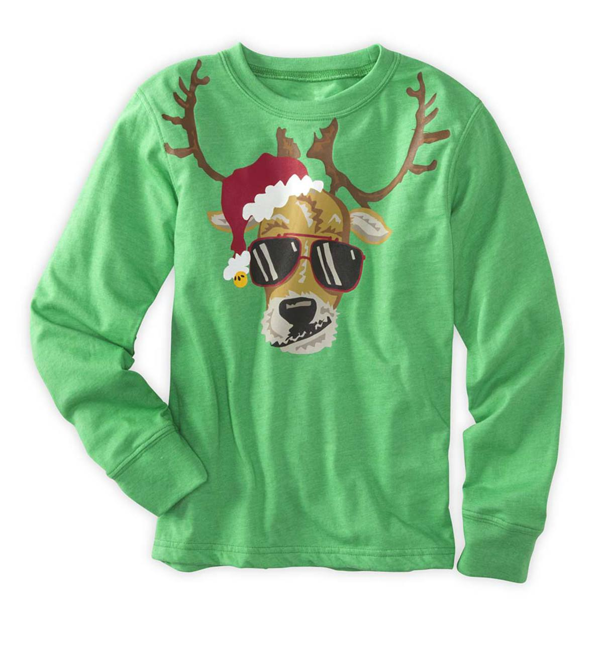 Cool Reindeer Tee - Green - 7