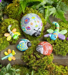 Color Pops Paint-Your-Own Rock Pets: Ladybugs and Dragonflies