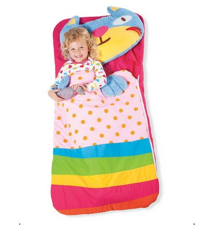 Each of our portable, adorable Animal Sleeping Bags is appliquéd with bright colors and comes with a soft, plush pillow pal and removable accessory. They're surprisingly easy to tote-the bag and pillow fold up in a flash transforming into a bag with a handle at the top. Front-load machine washable. For ages 3 and up.